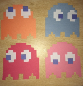 Pac Maze Door Decorations , the ghosts from the game